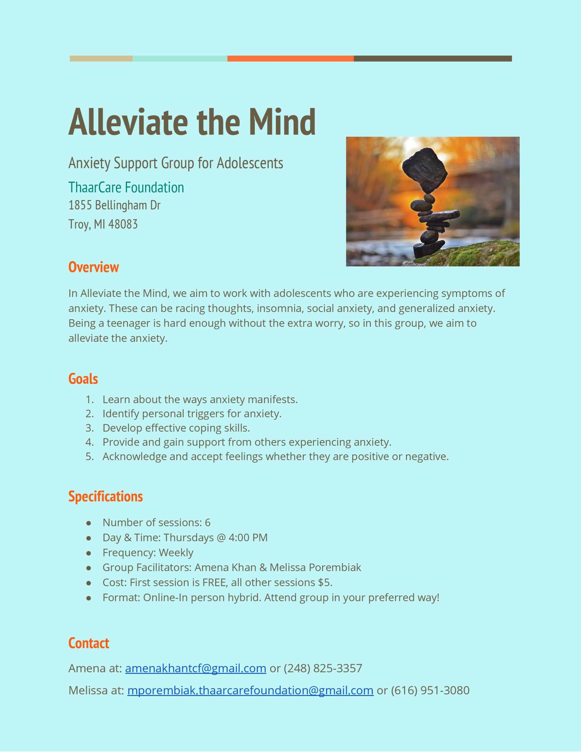 Alleviate the Mind Group